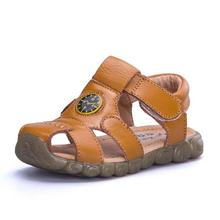 New Arrival 2016 Kids Summer Shoes Baby Girls And Boys Soft Genuine Leather Sandals For Children