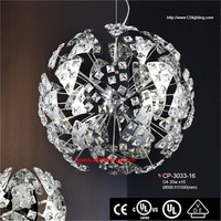 2014 Modern crystal chandelier wrought iron lantern