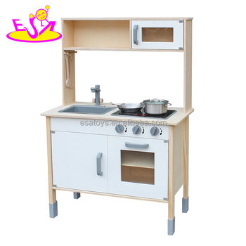 New Arrival Children Pretend Wooden Toy Kitchen In White And Natural  W10c396 - Buy Toy Kitchen,Toy Kitchen,Wooden Toy Kitchen Product on  Alibaba.com