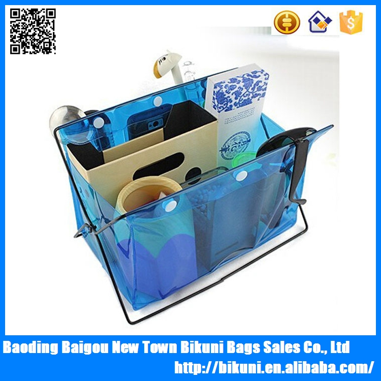 Eco-friendly PVC Candy color storage bag for girls