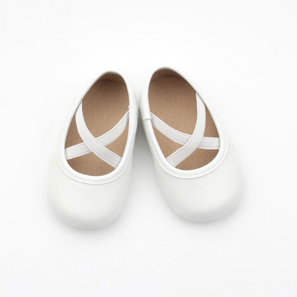 Girl mary jane shoes white leather new born baby shoes