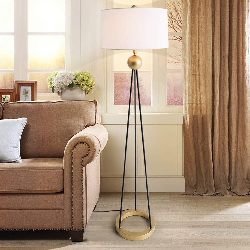 DEED Floor Lamp-Led Floor Lamp Bedroom Living Room Creative Nordic European Style Study Simple Modern American Style Rural Eye Protection Vertical Table Lamp