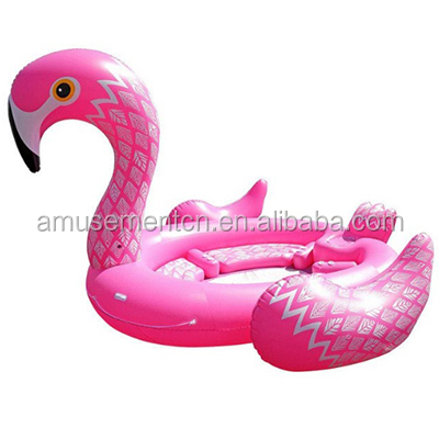 2018 hot large big giant unicorn / flamingo /peacock party island 6 person float in <strong>water</strong> outdoor