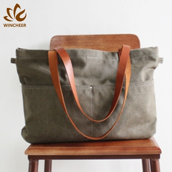 New design customized cheap price canvas fashion tote shopping ladies bags hand bag
