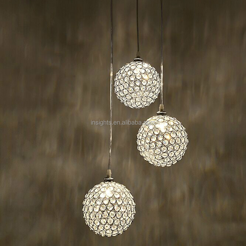 luxe ronde boule de cristal suspendus pendentif lustre luminaire lustre id de produit. Black Bedroom Furniture Sets. Home Design Ideas