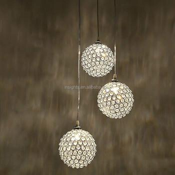 Luxury Round Crystal Ball Hanging / Pendant / Chandelier ...