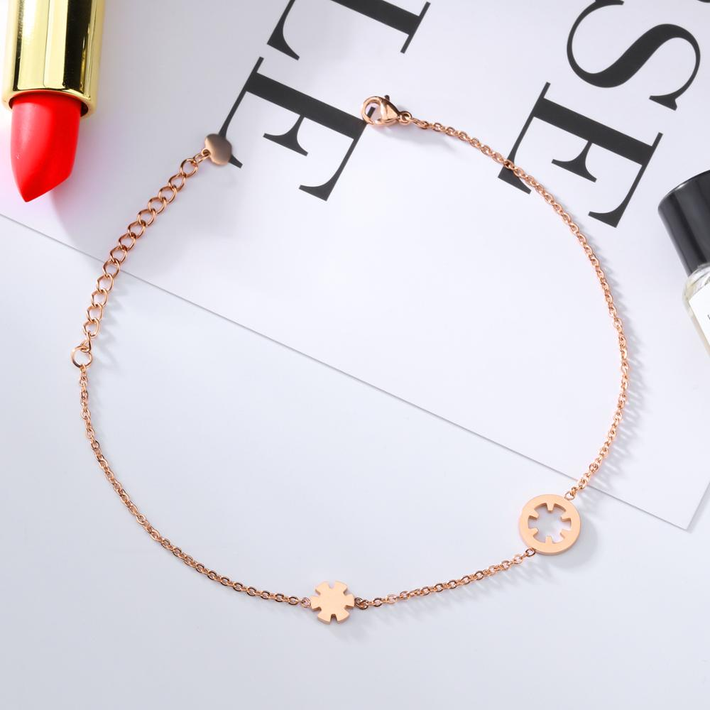 Fashion Girl Adjustable Chain Charm Fake Ankle Bracelet For Women