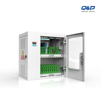UV-C light disinfection charging cabinet for tablets and phones