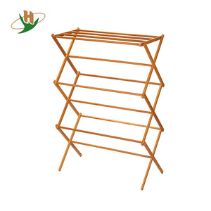High quality dry laundry bamboo wooden bathroom standing towel racks