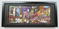 202509 3D Picture Frame Black New York (9x20.24in)