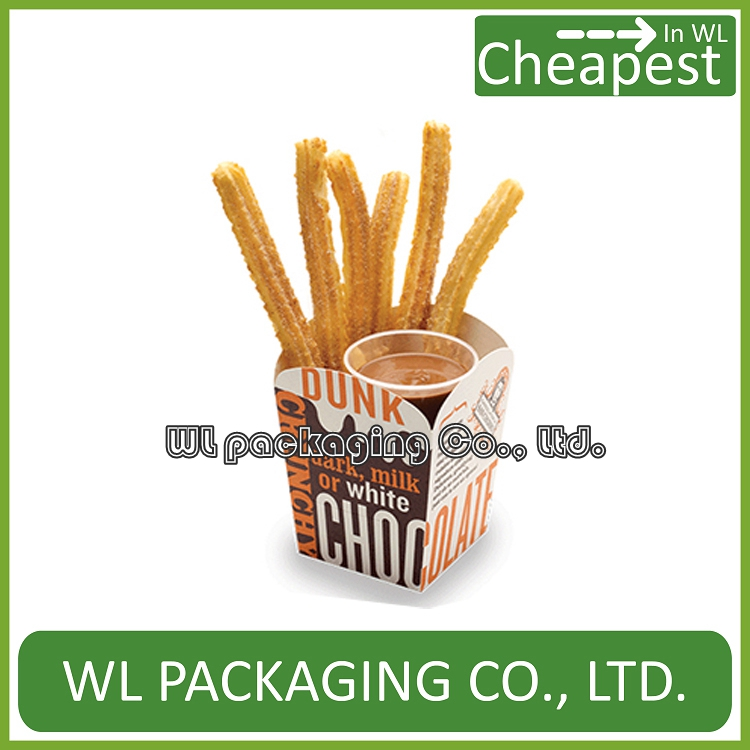 Arc-shaped Or Curve Paper Churros Box