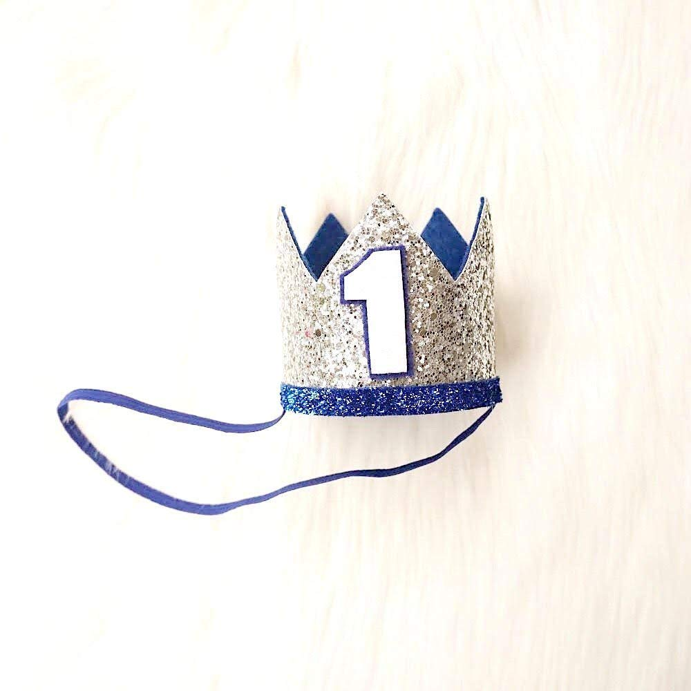 iMagitek Baby Boy 2nd Birthday Crown Hat Baby Boys Headband Party Supplies