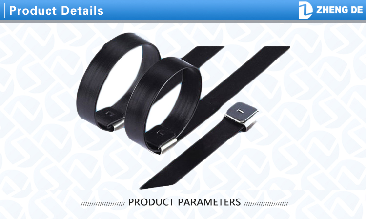 201 304 316 Stainless Steel PVC Coated Cable Ties