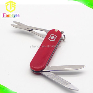 mini plastic handle multi function swiss knife promotion gift knife