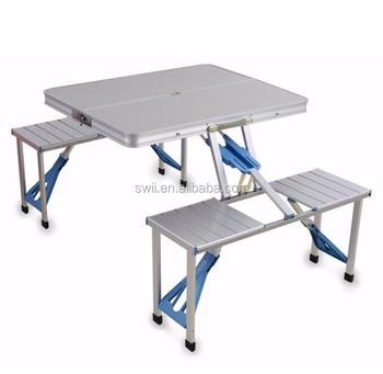 Portable Extérieure Pliante En Aluminium Hauteur Réglable Camping Jardin  Pique-nique Table Avec 4 Sièges - Buy Table De Pique-nique Pliante En ...