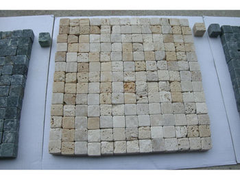 Hot Natural Stone Mosaic Tile Water Jet Pattern