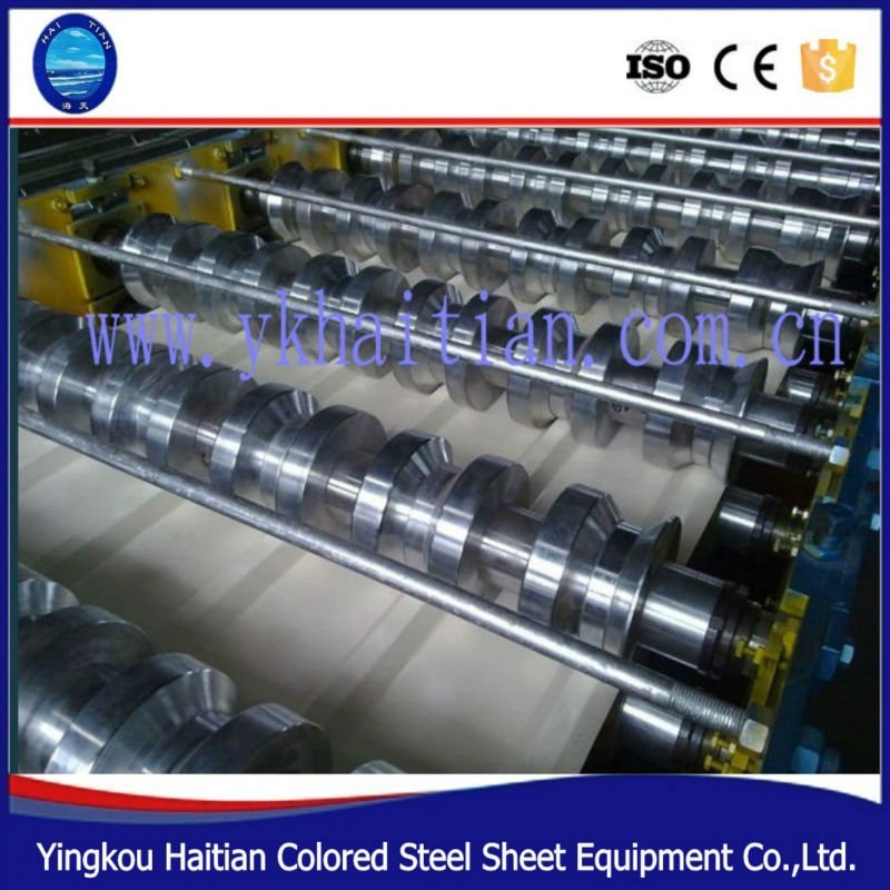 glazed steel tile roll forming machine high rib roofing panel roll forming machine roof panel machine