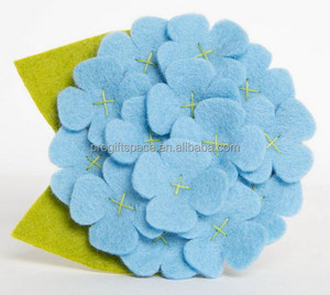 2018 new fancy fashion hot girl crafts decor wholesale handmade fabric felt China factory direct artificial flowers for headband
