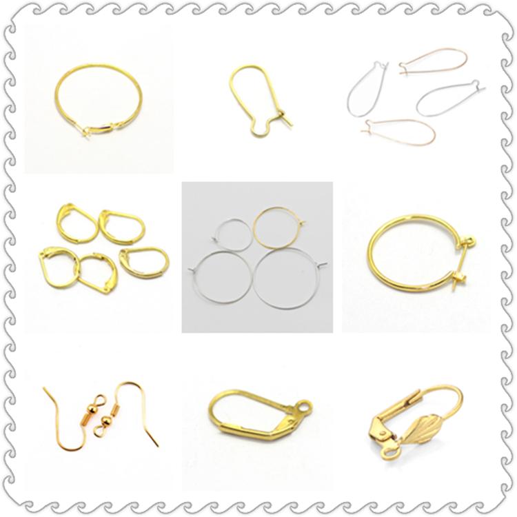 french clip Leverback earrings lever back earwire earring findings