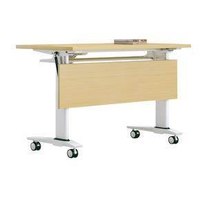 Custom Logo Outdoor Plastic Retractable Office Desk Eight Foot Folding Table