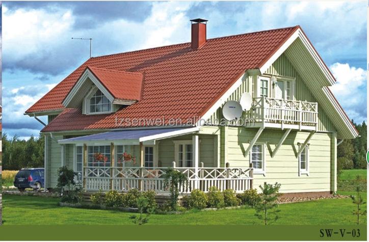 Mooie villa houten huis met balkon hoge kwaliteit houten villa te koop nieuwe ontwerp modern - Huis architect hout ...