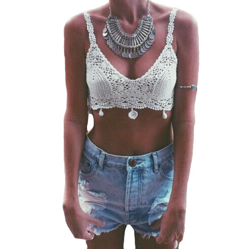 8638de03f2914e Buy Summer Crochet Crop Top Summer Handmade Knit Beach Cami Boho Bikini Crop  Top Crochet Halter Tank Top in Cheap Price on m.alibaba.com