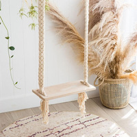 Natural Cotton Rope Macrame Handmade Hanging Outdoor Adult Swing Seat