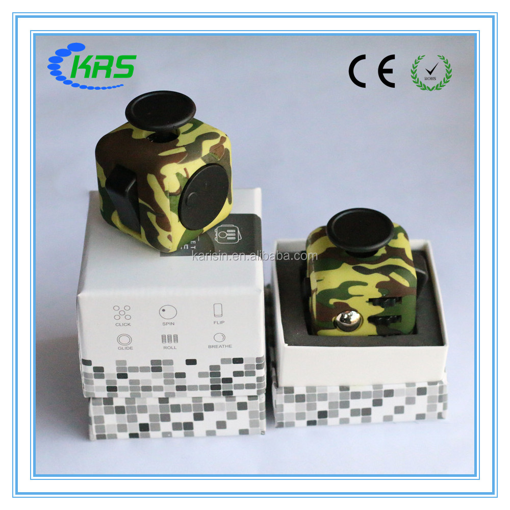 2017 trending product relieve stress fidget camo cube with fast shipping
