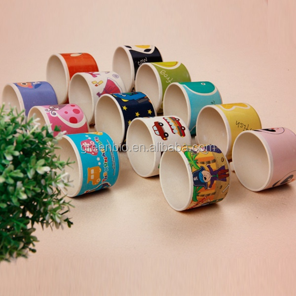 fashion cute bio eco-friendly bamboo fibre water cup, softdrink cup for baby, milk kids cups