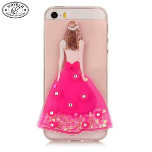 Quicksand Wedding Dress Shaped Mobile Phone Case for iPhone Case