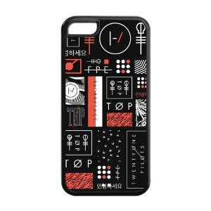 FEEL.Q- 21 Pilots Twenty One Pilots Personalized Protective Black TPU Rubber Cell Phone Case Cover for iPhone 5C