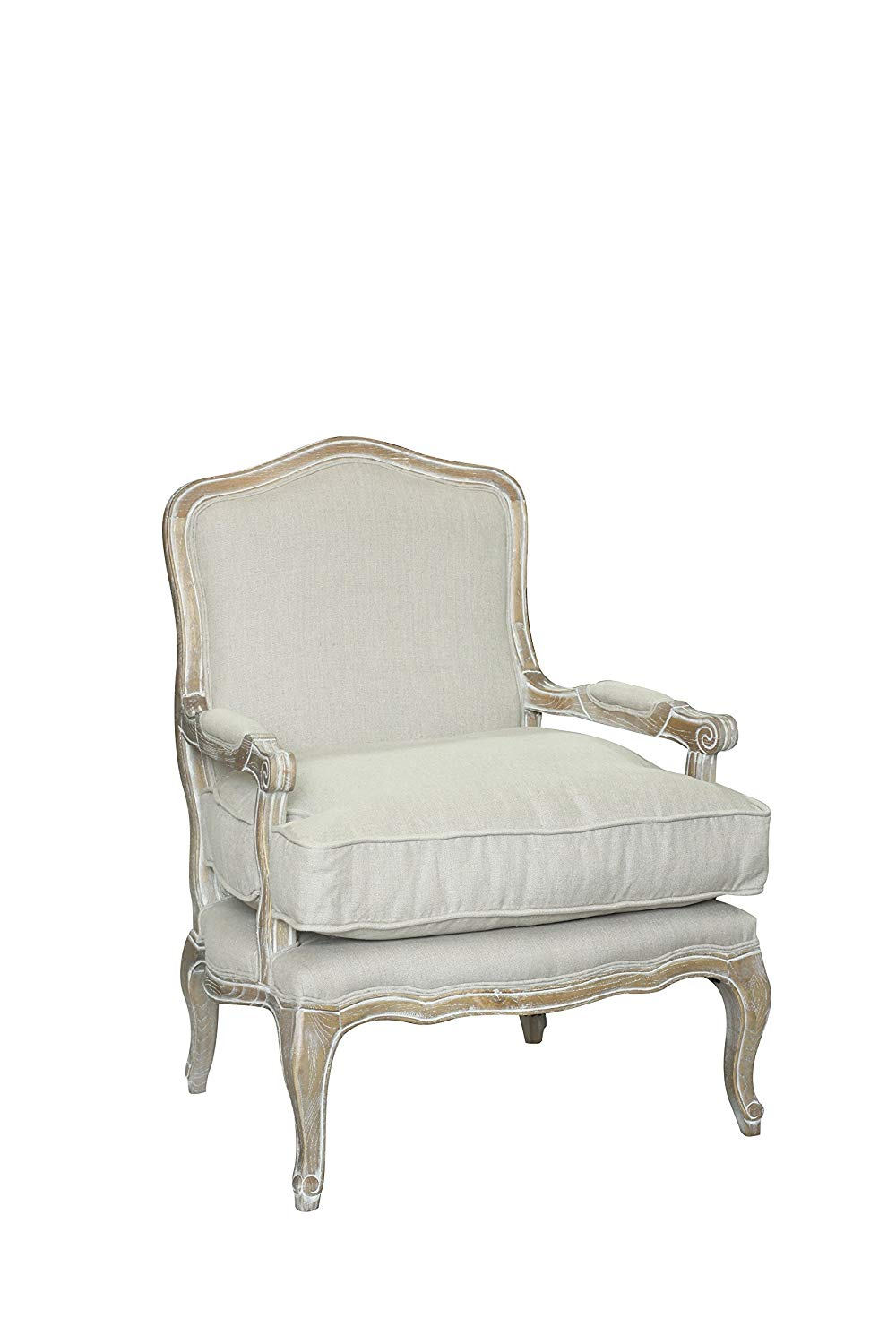 Get Quotations Pangea Home Z Rodney Chair White And Linen Lounge In Fabric