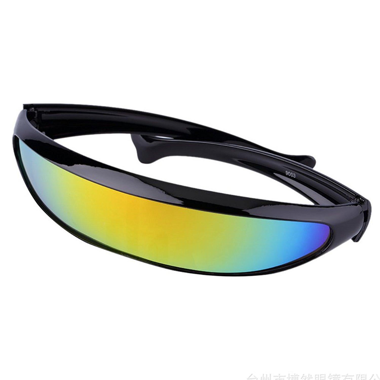 96dc223dfd0 Futuristic Cyclops Sunglasses For Cosplay Narrow Cyclops Party Favor Shield  ...
