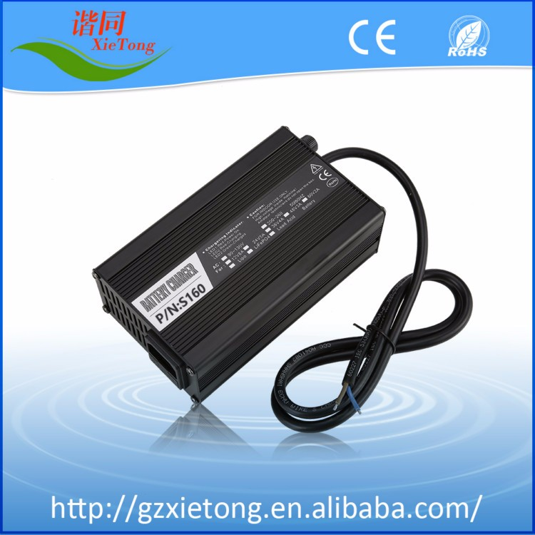 Hot sales 2017! 100-240v Portable aluminium shell stable 160W 48v lead acid/ li-ion /lifepo4 battery charger