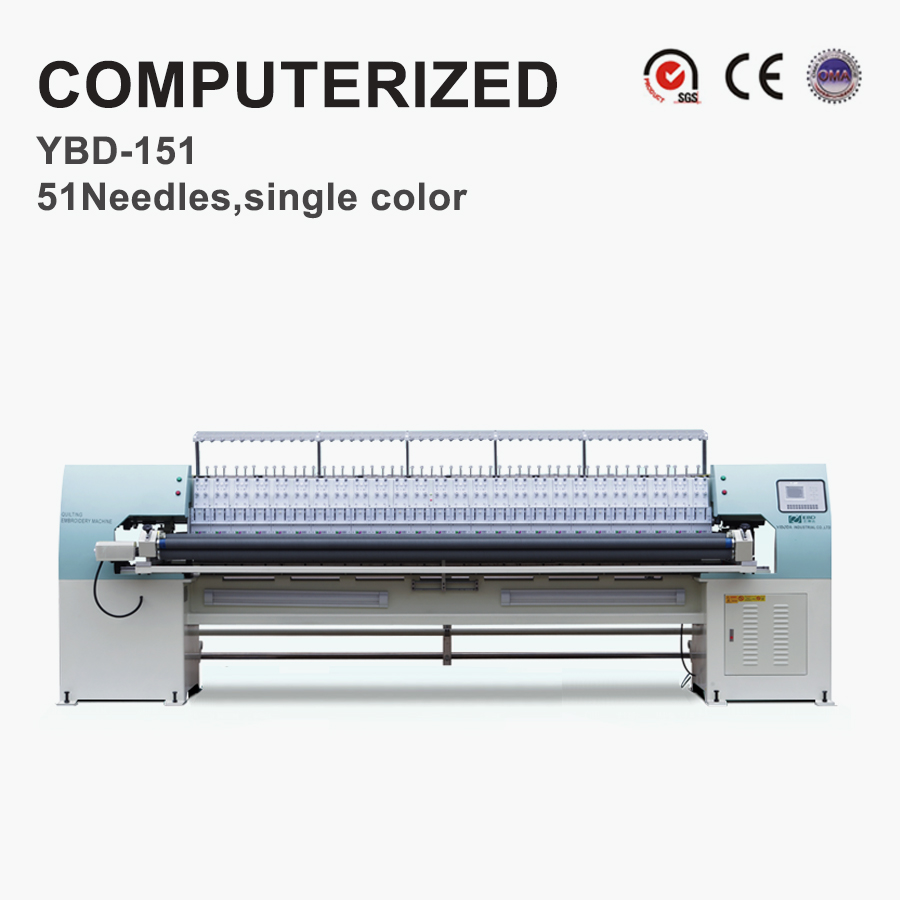 YBD151 Industrial Digital Controlled computergesteuerte Quilt-Stickmaschine