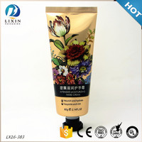 Hand lotion packaging tubes for cosmetic laminated aluminum custom printed