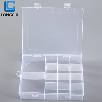 14 Grids Transparent Cosmetic Plastic Removable grids DIY Organizer Bin Makeup mini plastic Storage Box