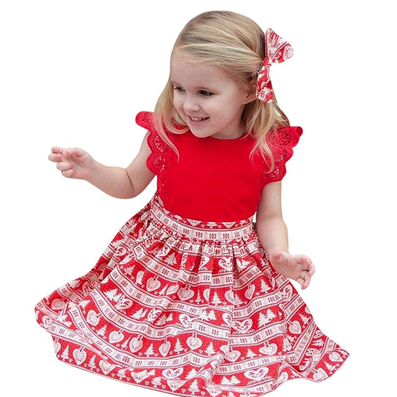 Annvivi Cute Baby Girl Blue Shirt Pink Princess Tulle Overlay Lace Tutu Dress