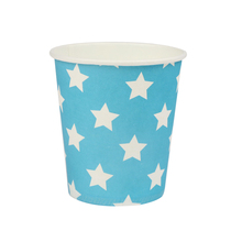 Birthday Party Paper Cup Disposable Baby Blue Paper Cups with Stars