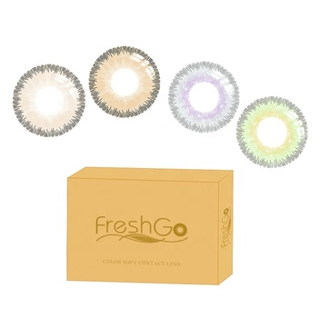 Wholesale  Cheap Yearly Usage Freshgo Elite series Sterling Gray Soft Eye Contact Lenses