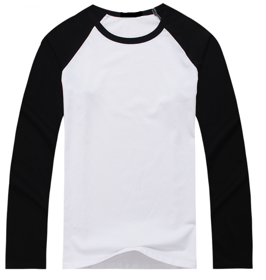 Custom bulk o-neck color combination cotton plain long sleeve men's <strong>clothing</strong> <strong>manufacturer</strong>