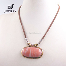 wholesale latest design wood resin heart lava stone pendant necklace chain
