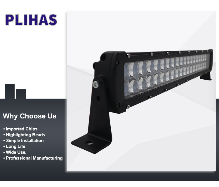 China supplier 120w 20Inch led driving light bar strip lights truck offroad led work lamp bars
