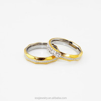 custom high quality romantic stainless steel wedding ring set for eternal love