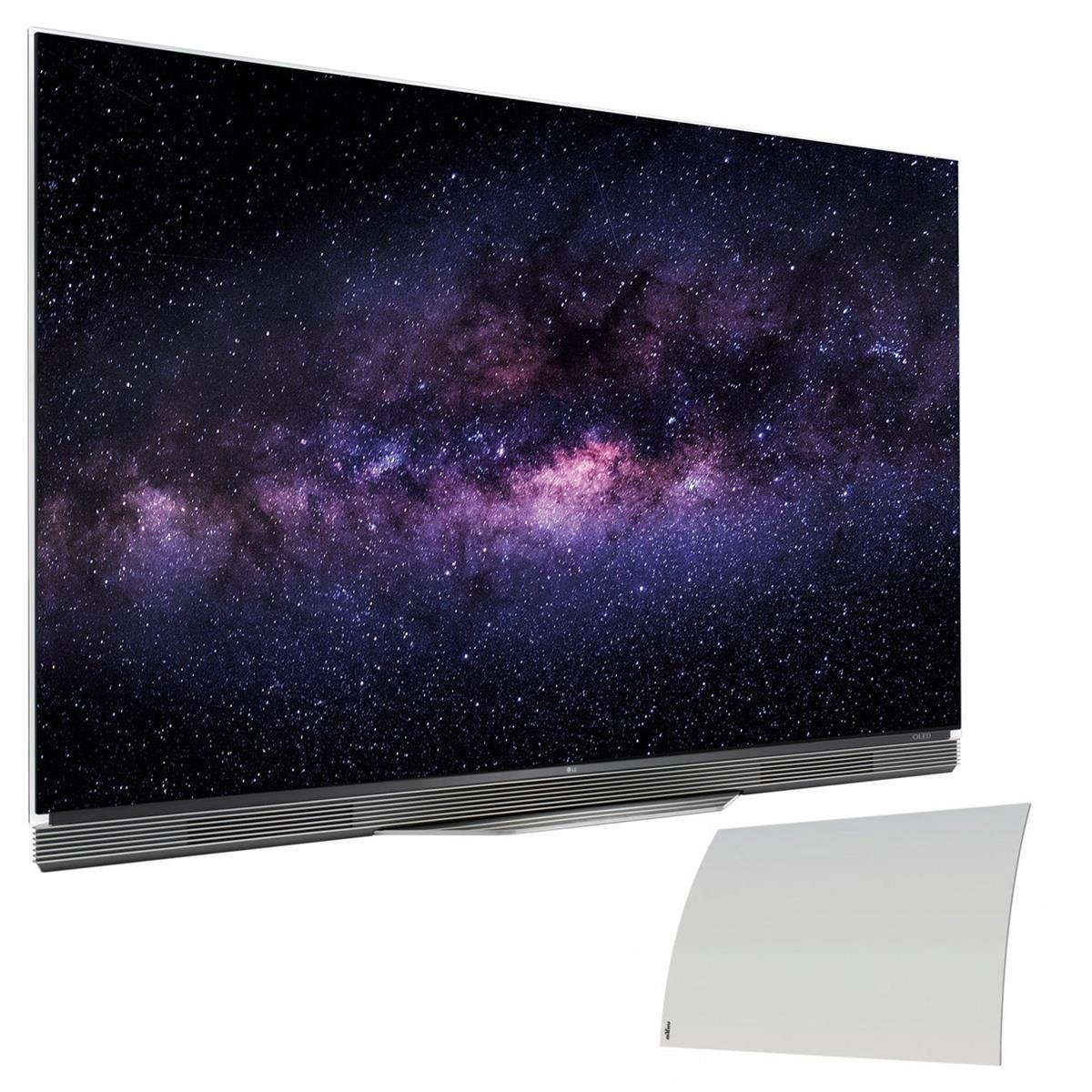 """LG OLED55E6P 55"""" Class E6 Series 4K UHD OLED 3D Smart TV with Mohu Curve 50 Indoor Amplified HDTV Antenna"""