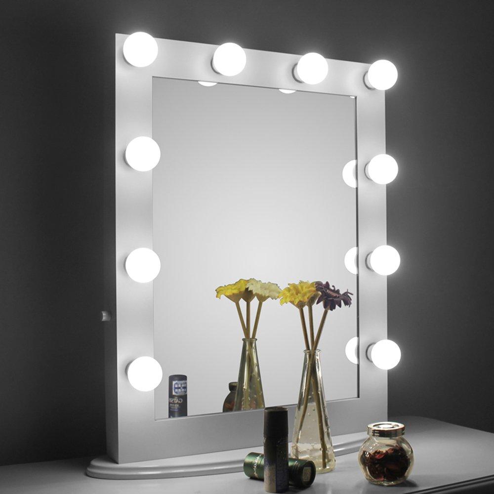 Free Standing Illuminated Makeup Mirror Find