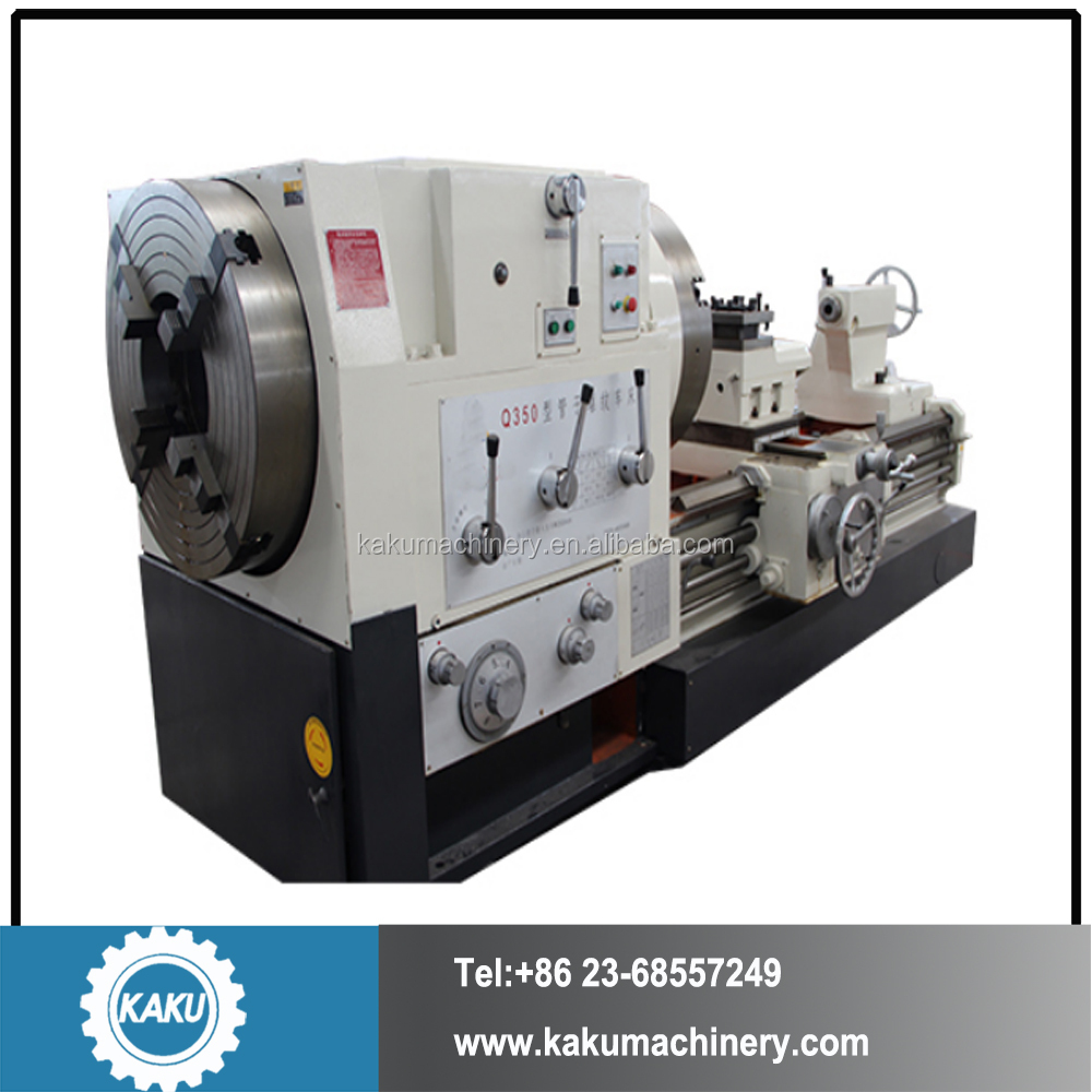 Q350 High Precision Horizontal Pipe Thread Lathe for large diameter pipe