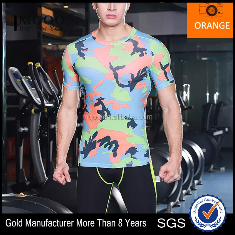 MGOO Custom Sublimation Printing 100% Polyester Dry Fit Shirts Men Sport T Shirt