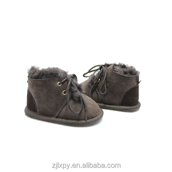 2015 Sheepskin baby bootie with shoe lace