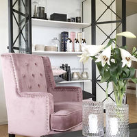 Wholesale Furniture European Style Tufted Modern Pink Velvet Chairs